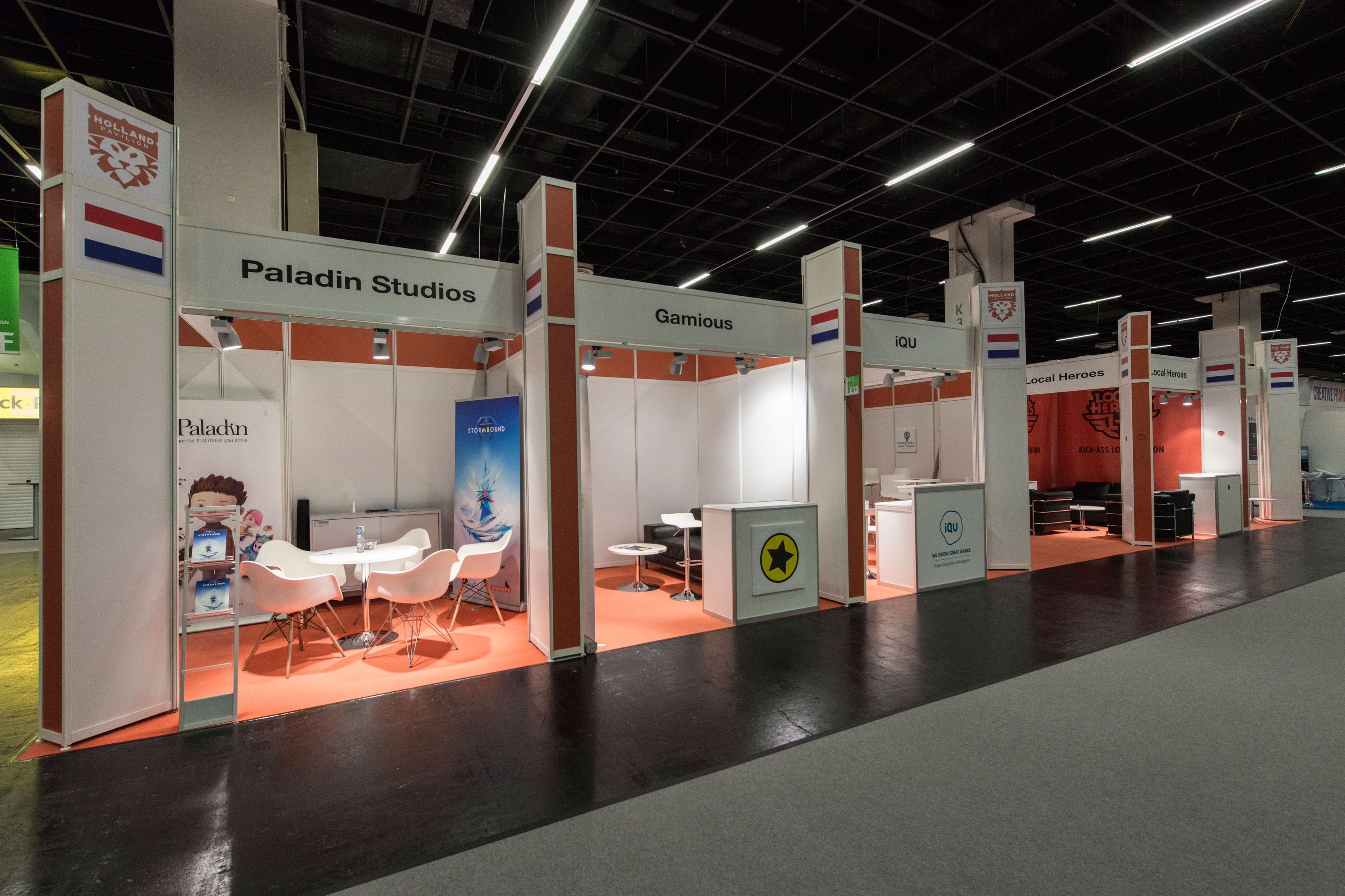 Group stand type A: Stand construction with modern colour concept at affordable prices.